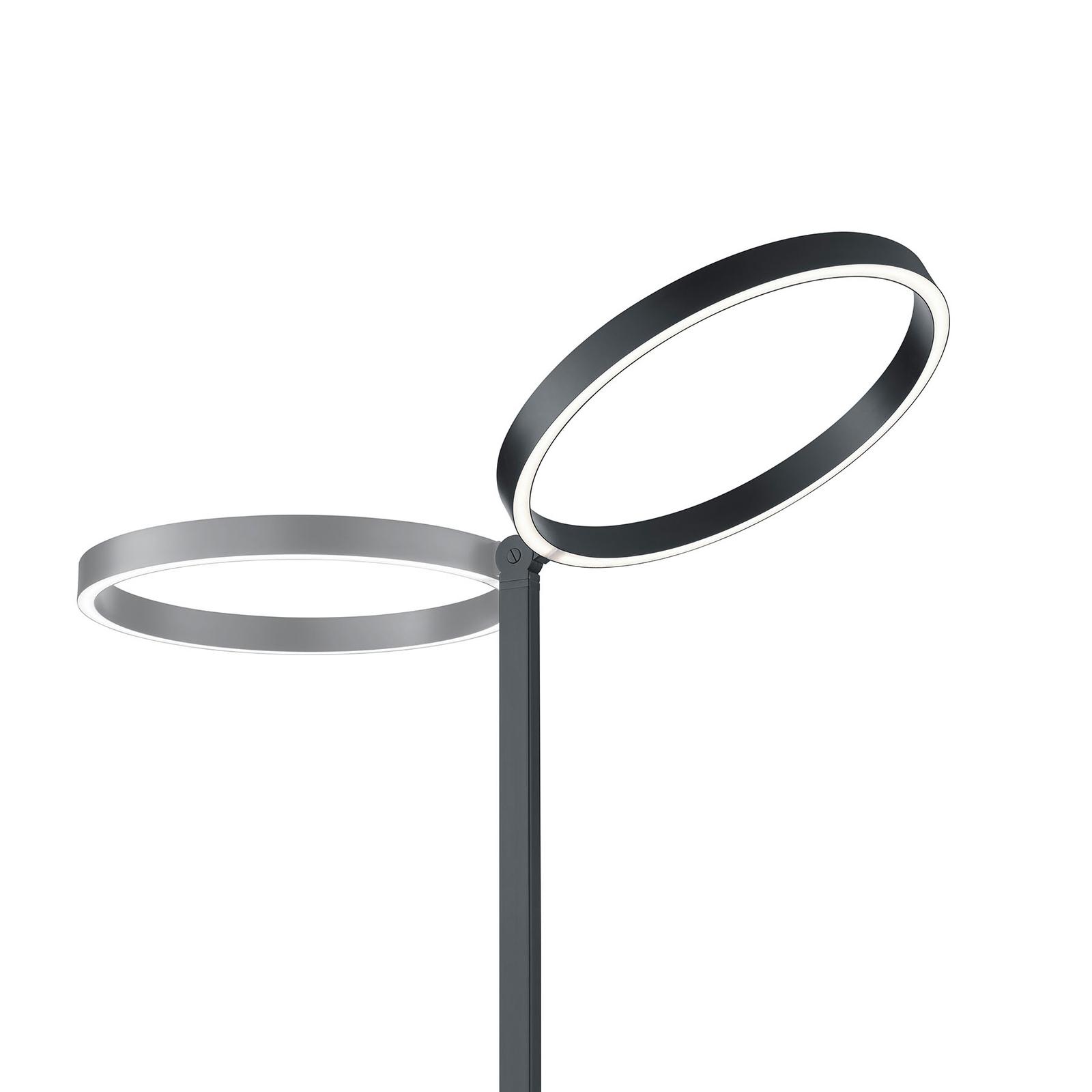 Lampa stojąca LED Lana czarna sterowana gestami