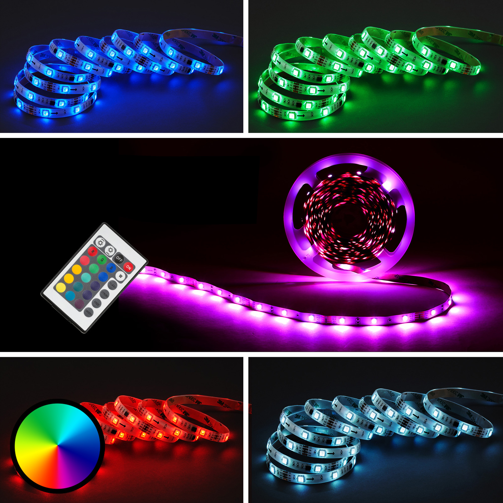 2024-300 LED strip RGB indoors 10 m remote_1510492_1