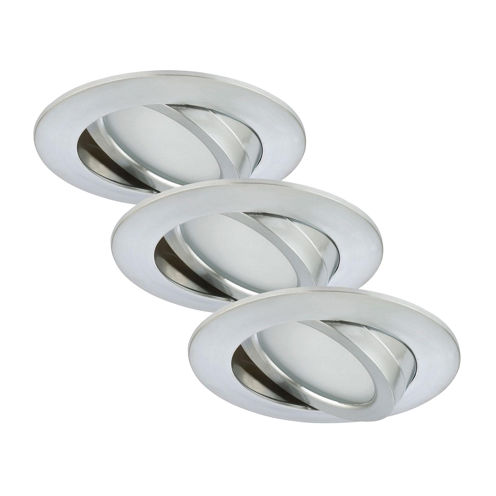 Set di tre spot LED Bert, orientabili
