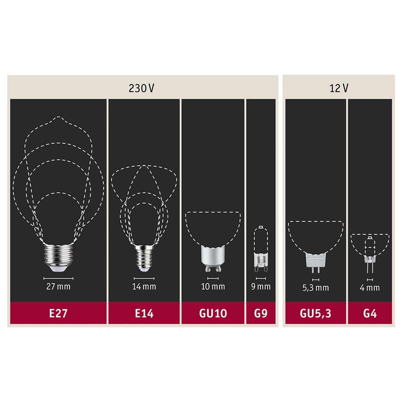 Paulmann LED-Globe E27 Inner Shape G95 4W oro