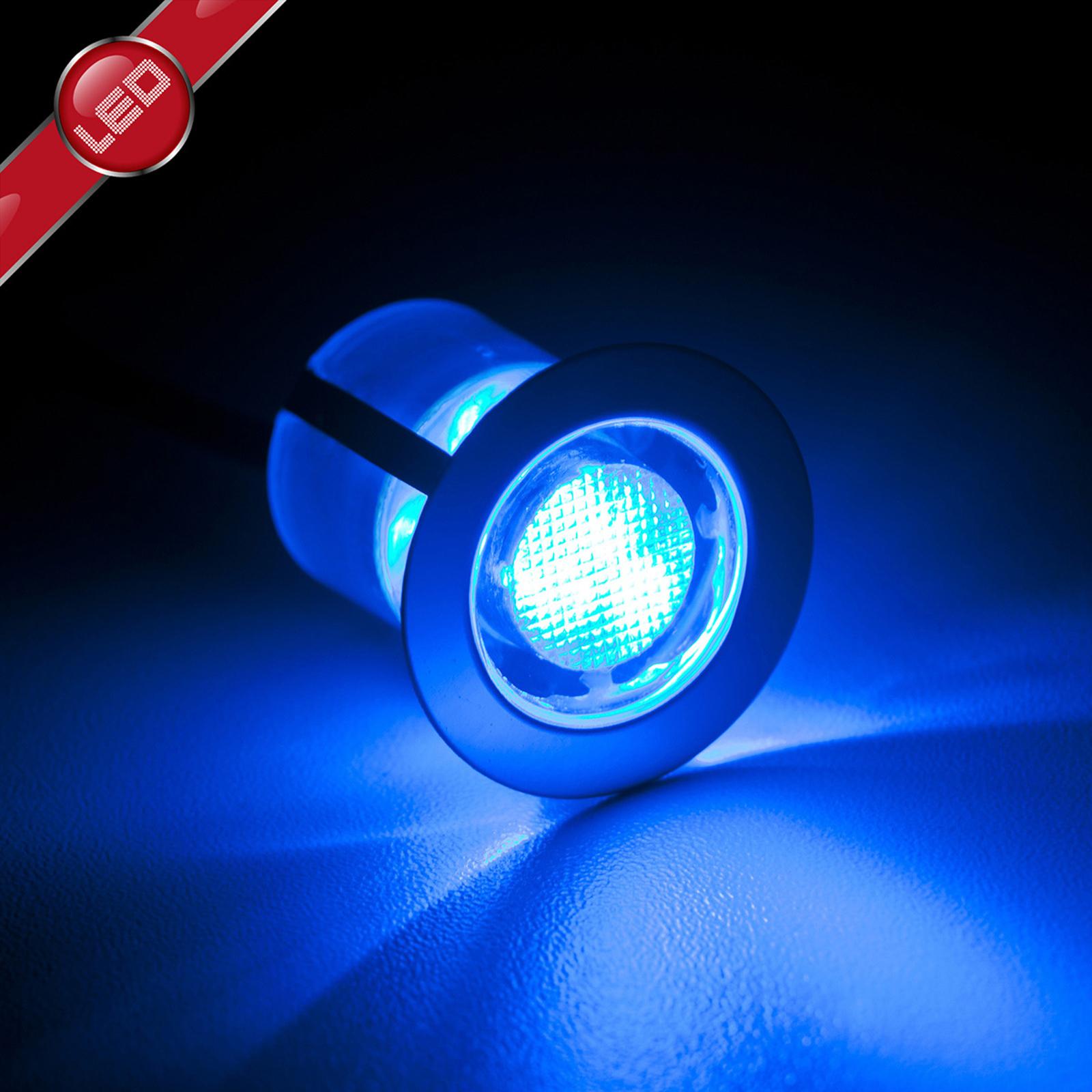 Lámpara empotrada LED Cosa, 3 cm azul set de 10