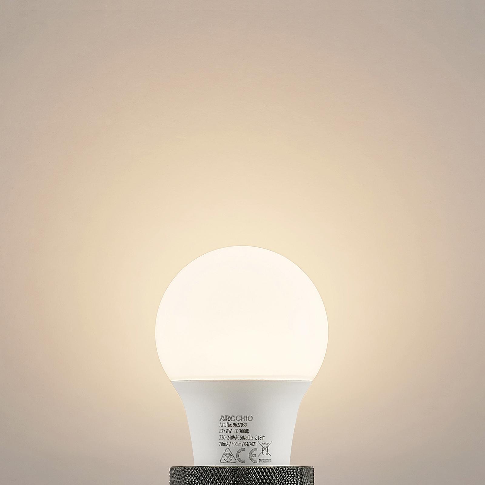 LED-pære E27 A60 8,5W3000K opal