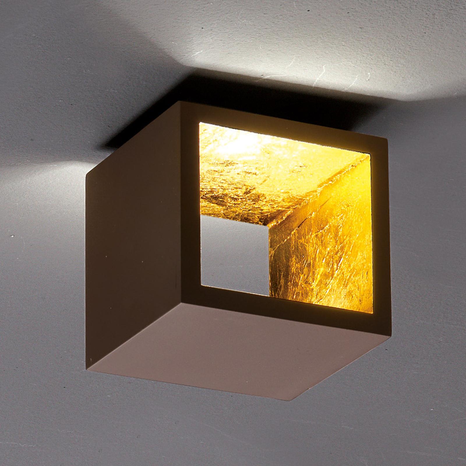 ICONE Cubò - LED-Deckenleuchte, 10 W, braun/gold