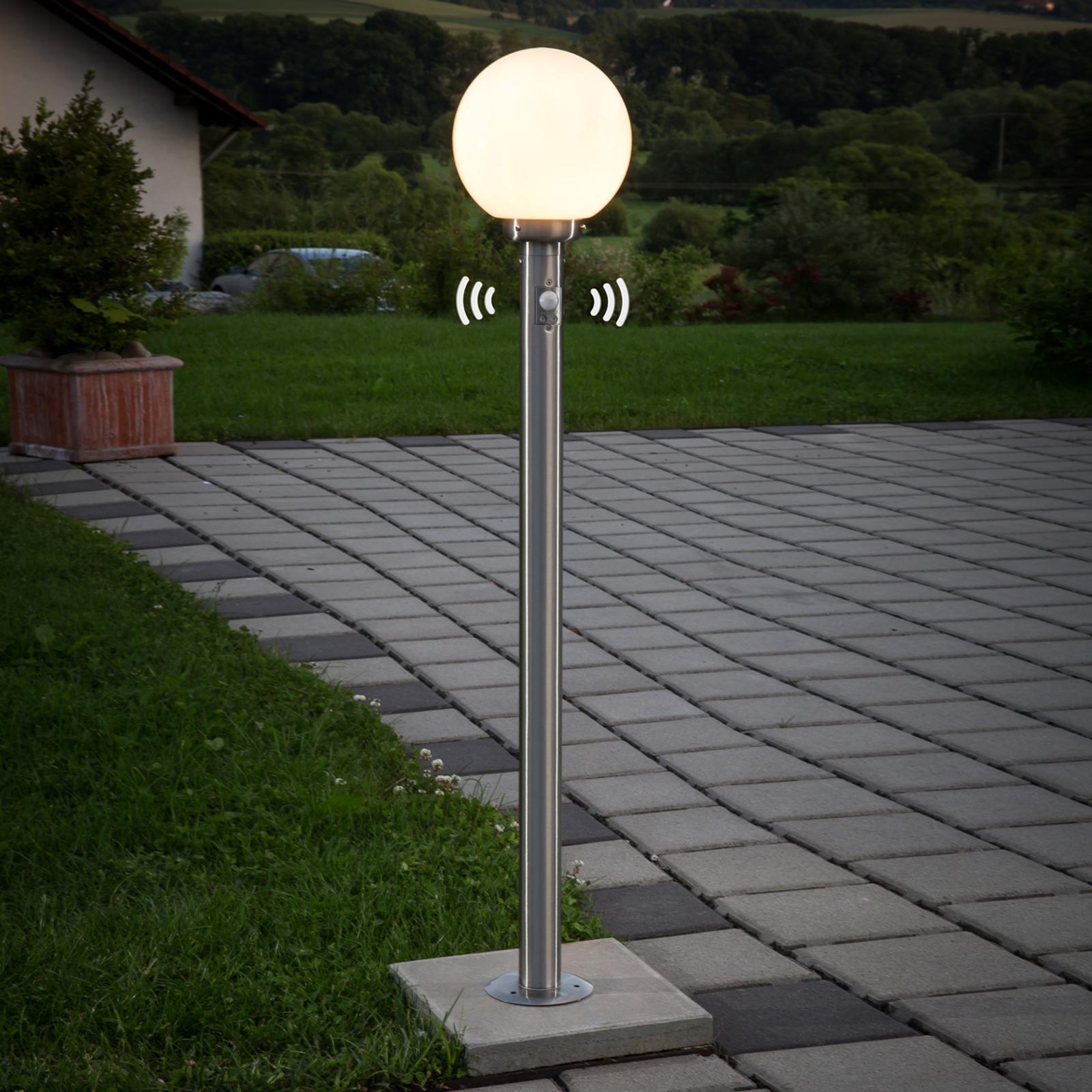 Lampioncino Vedran con globo e sensore