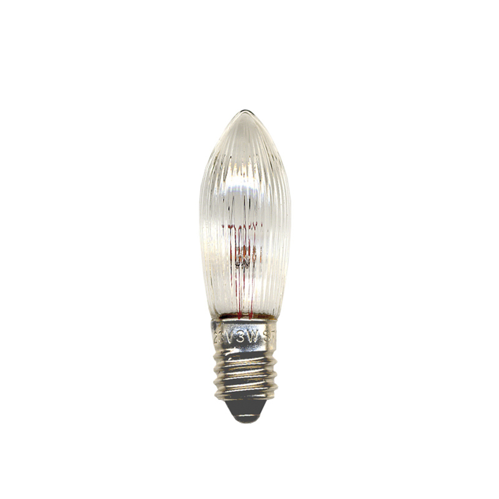 E10 2,4W 12V Ersatzlampe 3erPack Kerzenform
