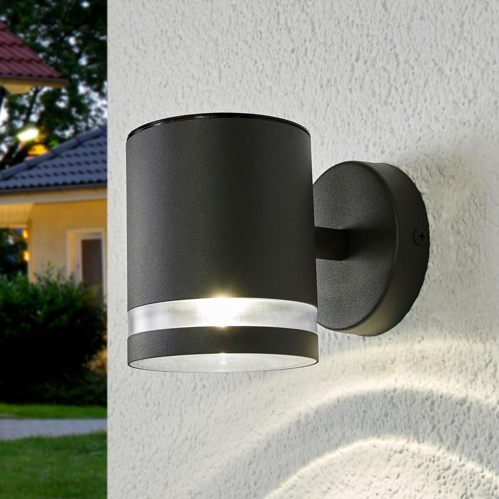 Applique d'extérieur LED solaire grise Melinda
