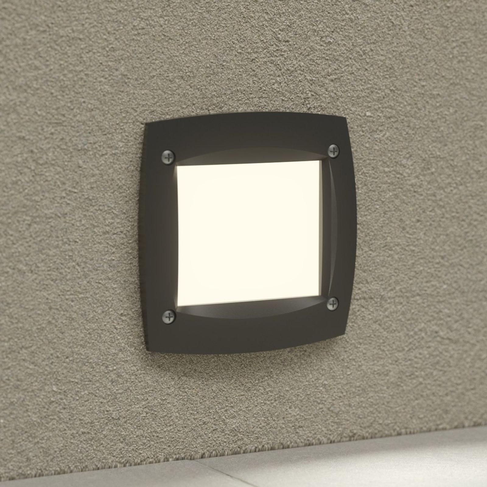 LED-innfellingslampe Leti 100 kvadrat svart 3W CCT