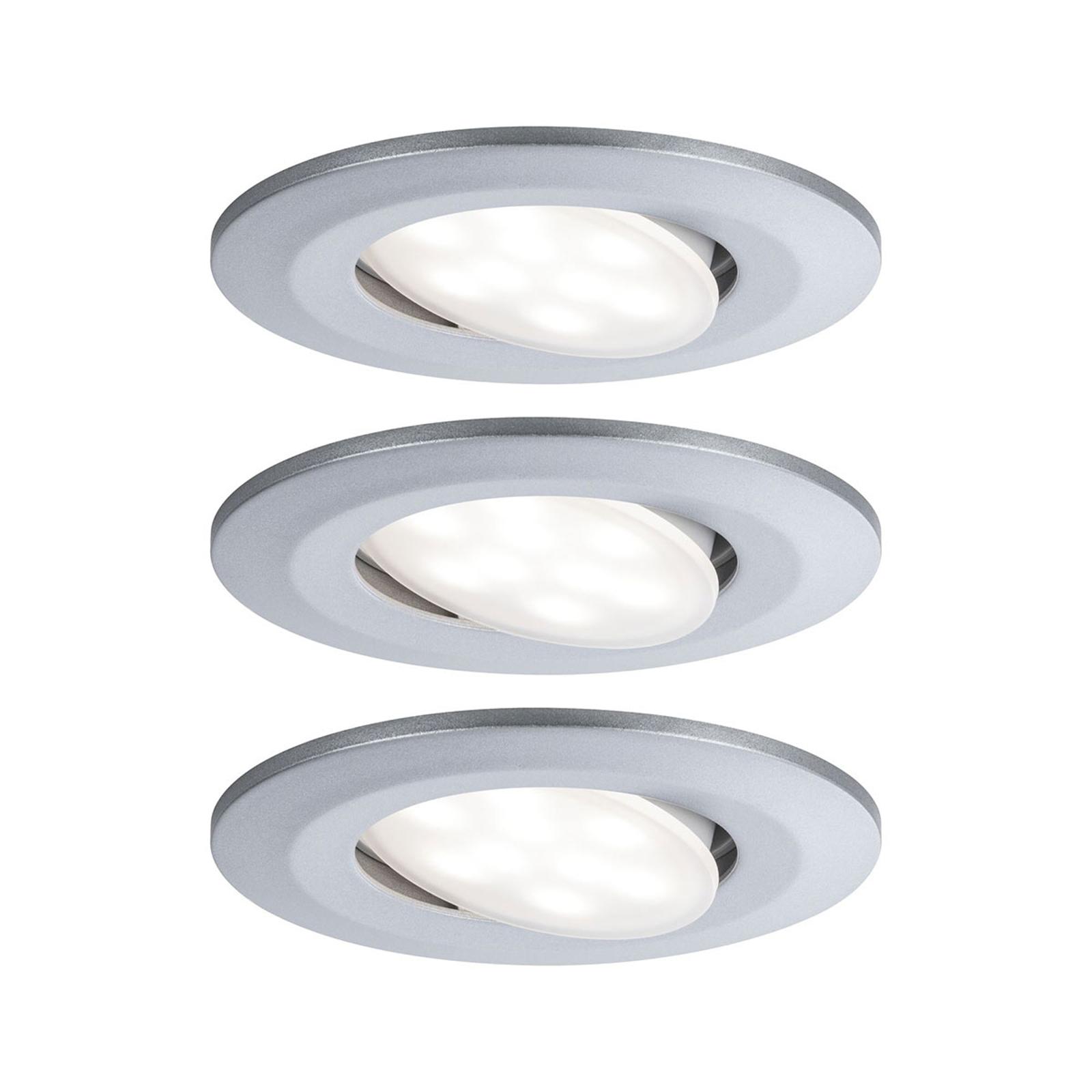 Paulmann LED-Außen-Einbauspot Calla 3er chrom