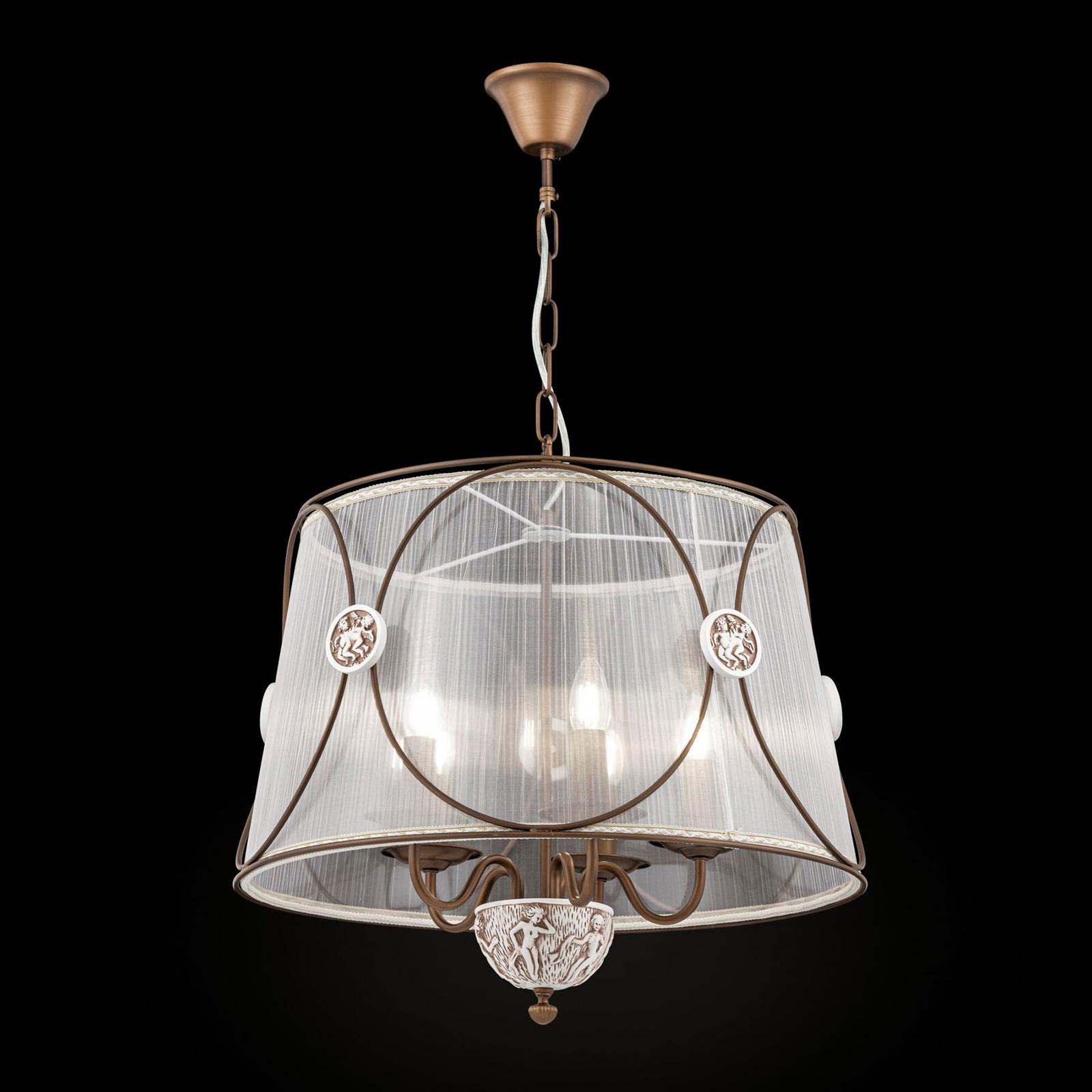 Lampa wisząca Letizia z prześwitującą organzą