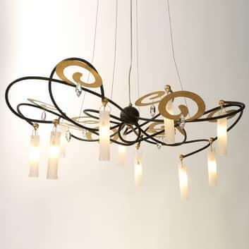Exklusiv LED-hänglampa Casino Grande, 110 cm