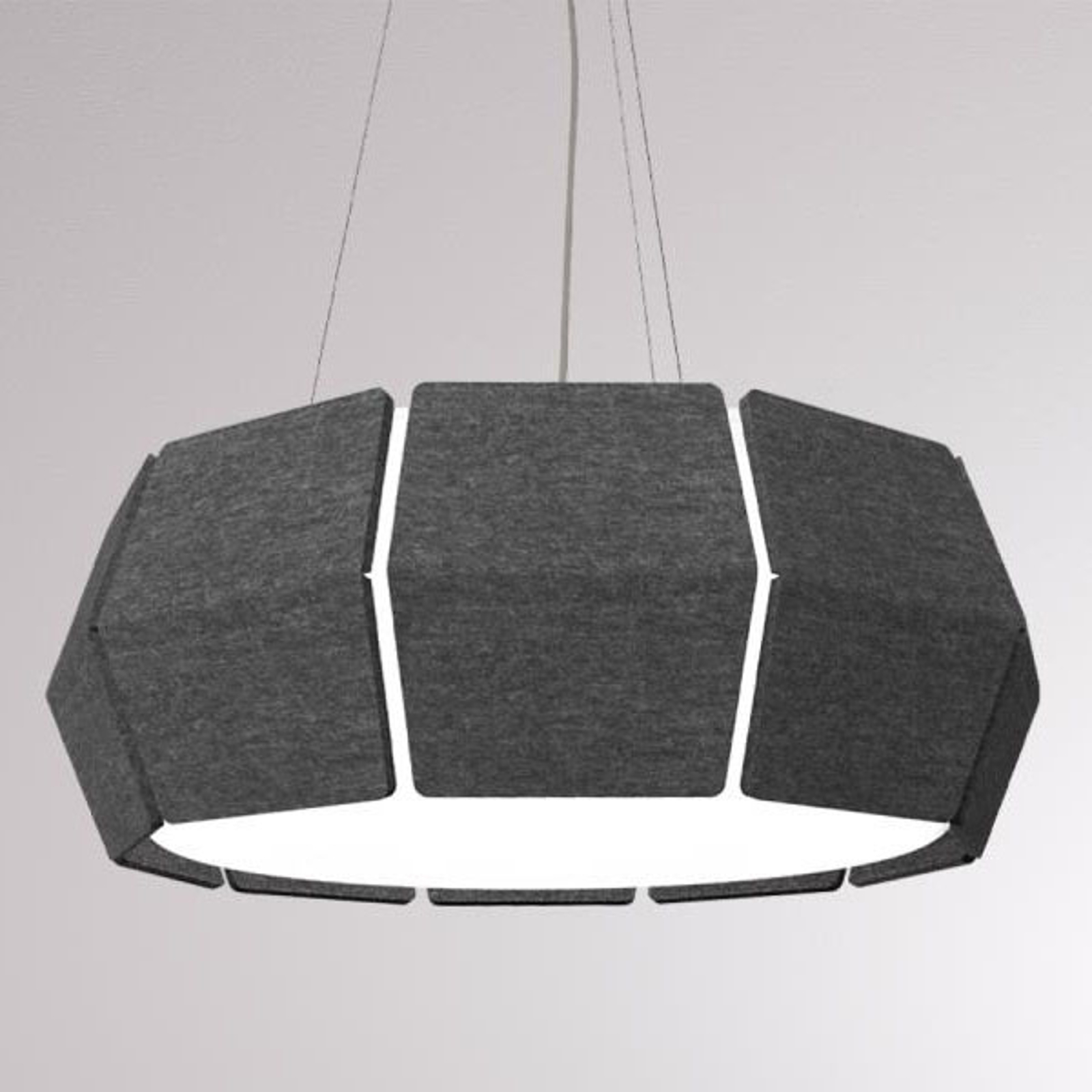 LOUM Decafelt suspension LED acoust. noire Ø 54 cm