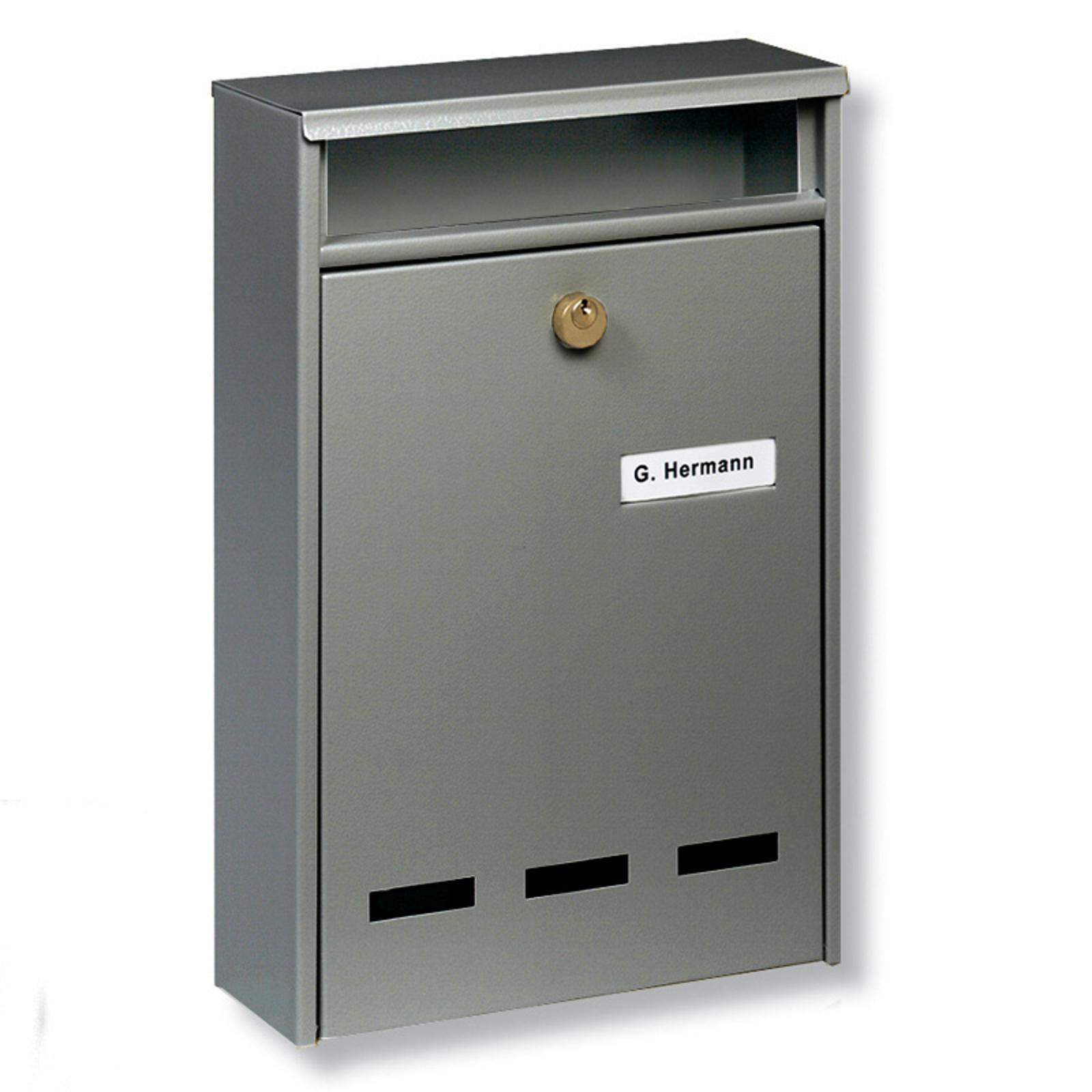Standard anläggnings-brevlåda Wismar B5, grå