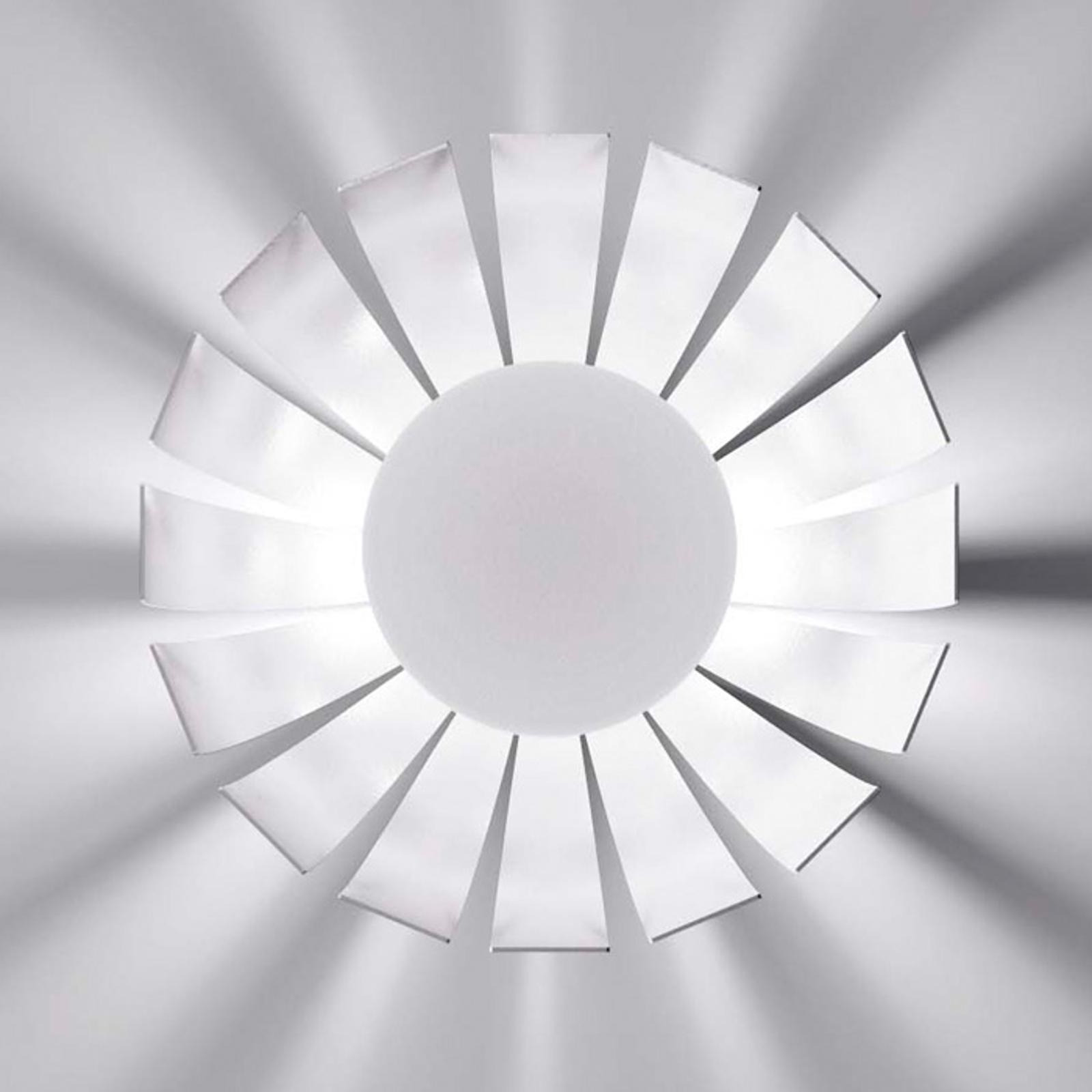 Witte LED design plafondlamp Loto, 27 cm