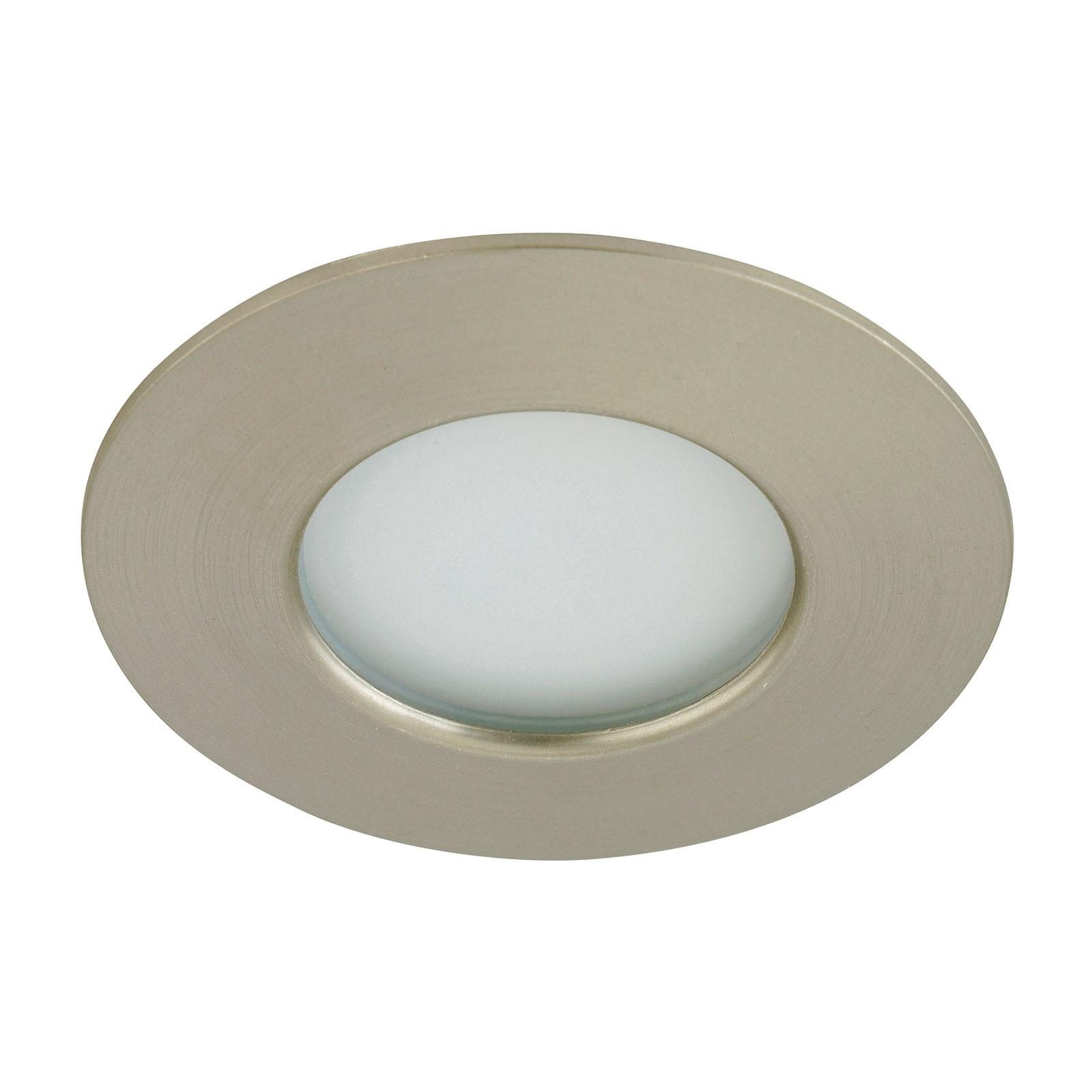 LED podhledové svítidlo Till venkovní, nikl matný
