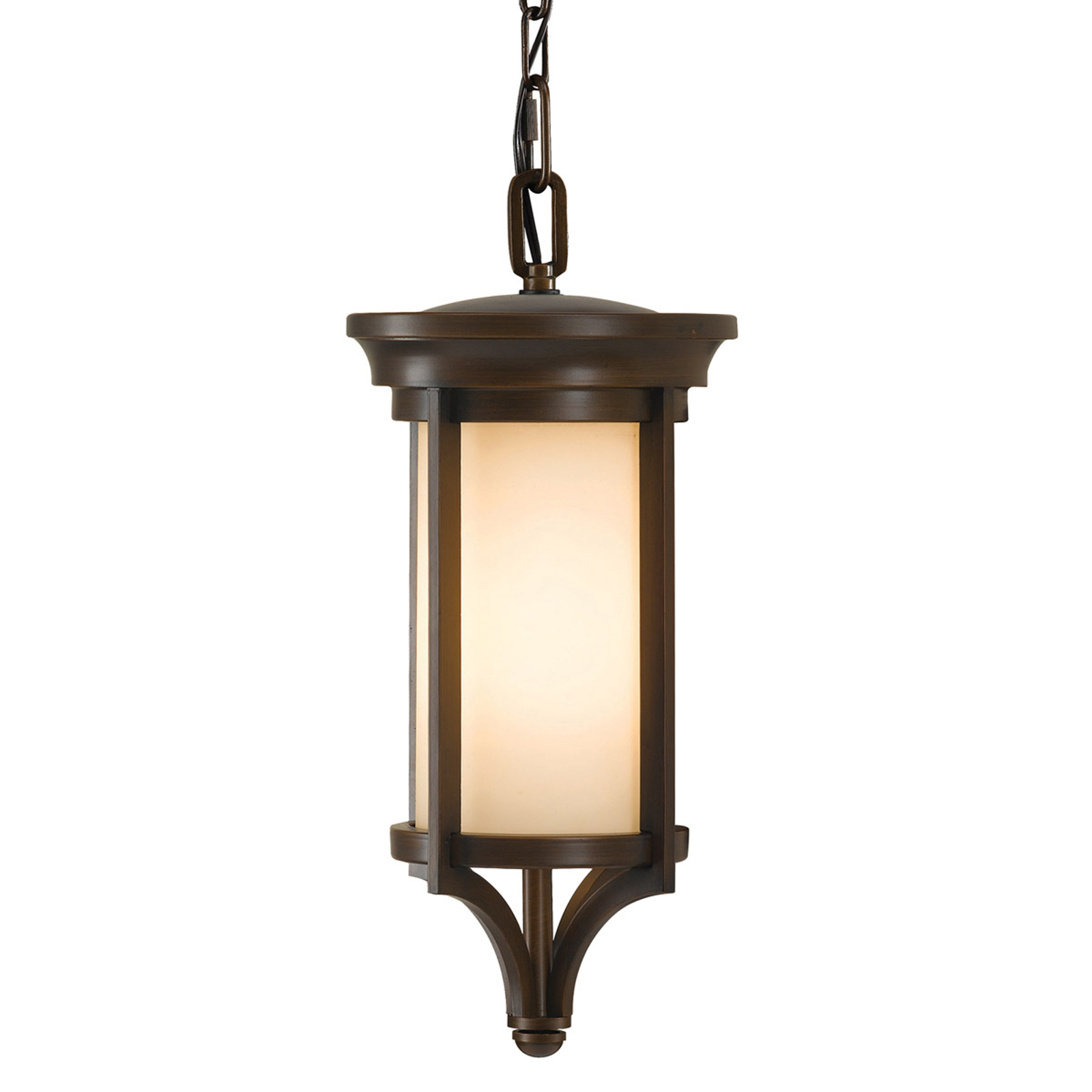 Stylowa lampa wisząca Merrill na zewnątrz