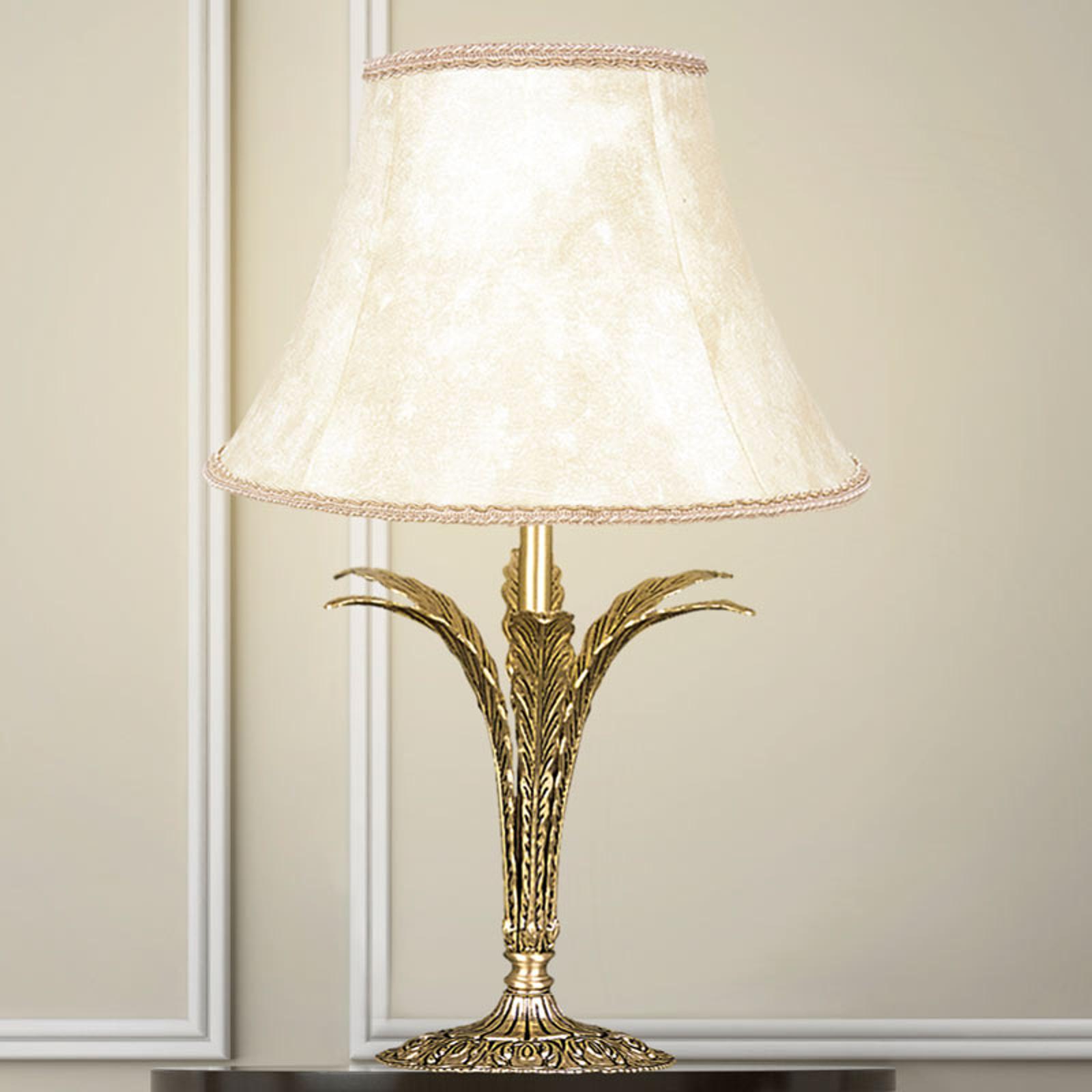 Bordlampe Palmera, antik guld, 1 lyskilde