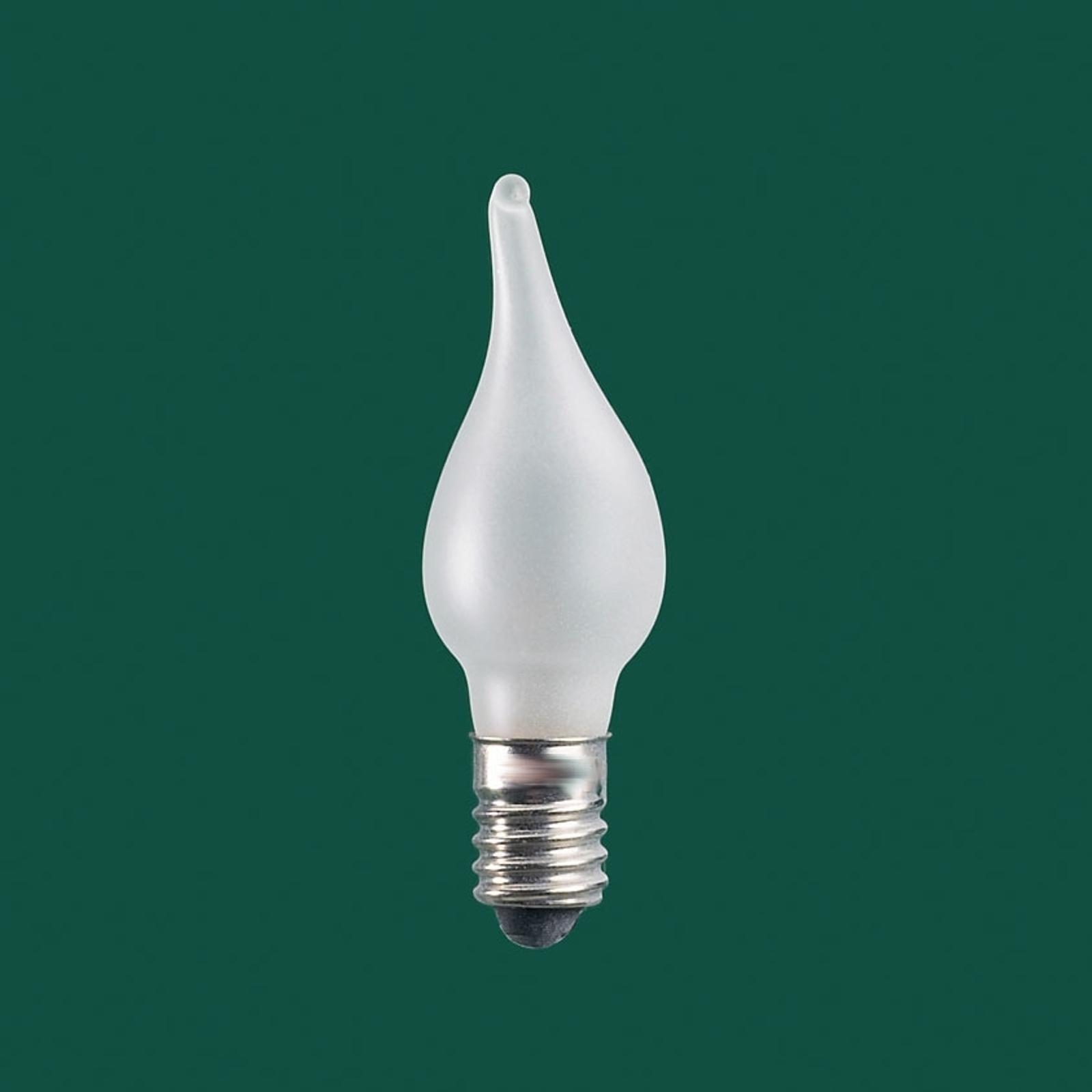 """E10 8 - 34 V LED reservlampor """"ljuslåga"""" 3-pack"""