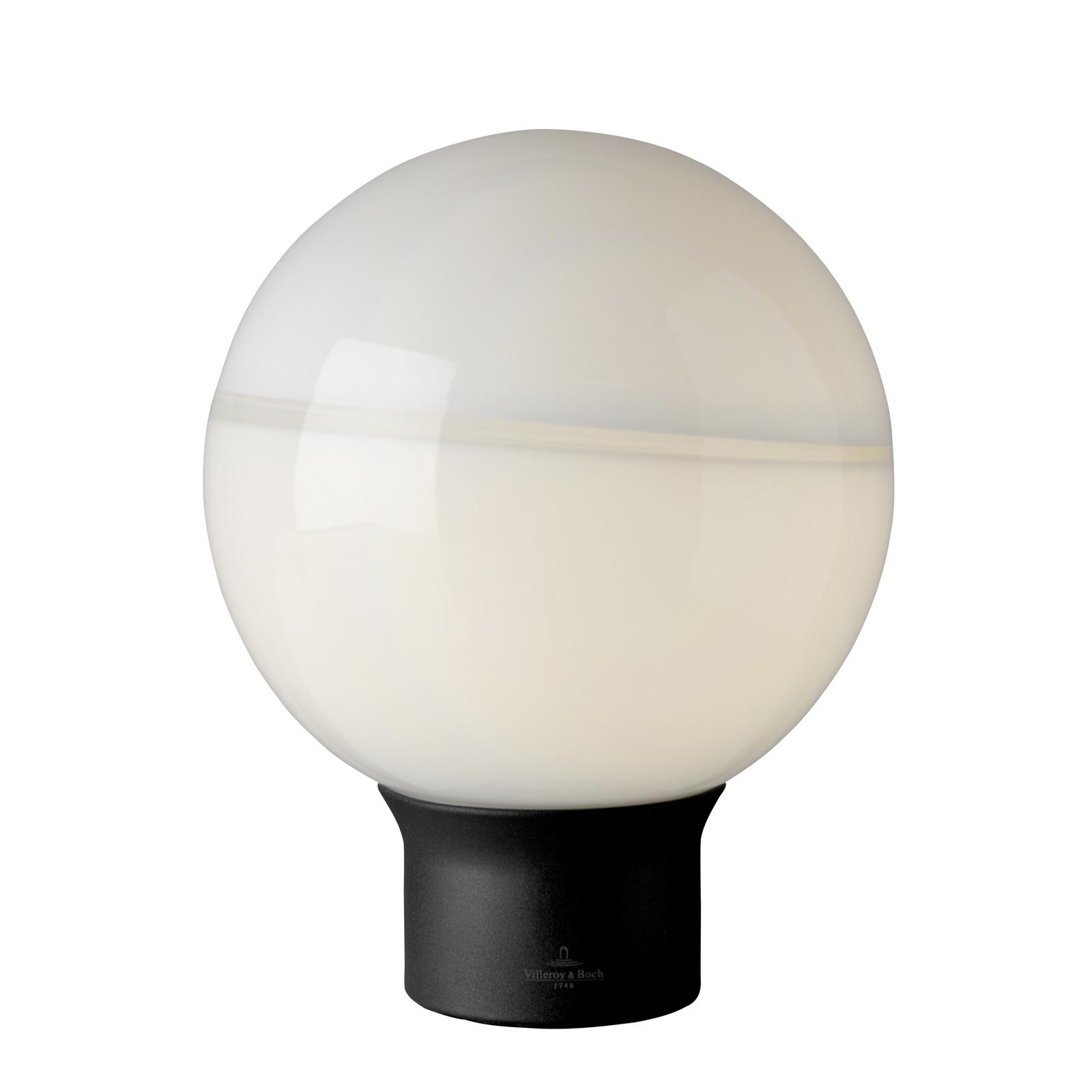 Villeroy & Boch Tokyo bordlampe, sort-hvid, 20 cm