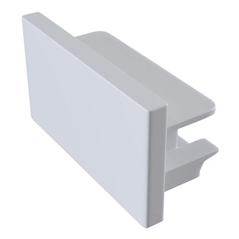 Eindkap Track, 1-fase-rail, wit