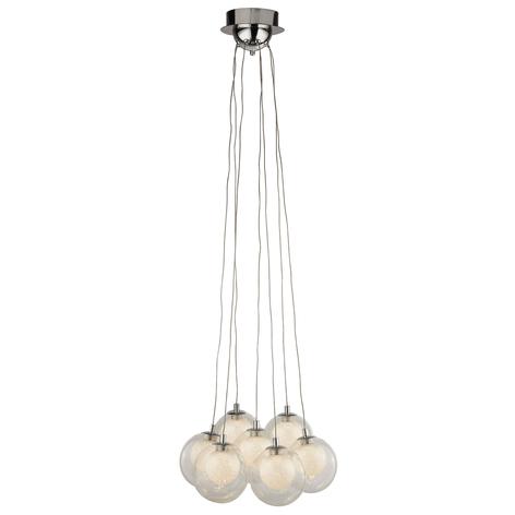 LED-Hängeleuchte Cluster, siebenflammig