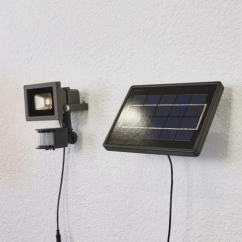 Solar-LED-vägglampa Joelina m separat panel