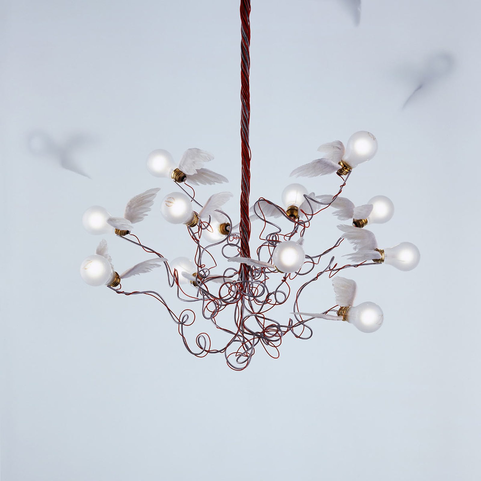 Ingo Maurer Birdie - LED hanglamp, kabel rood