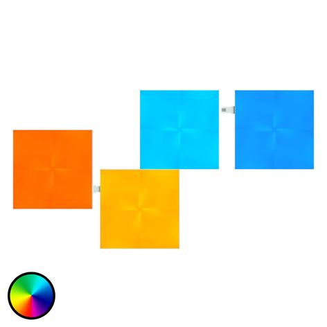 Nanoleaf Canvas extension avec 4 panneaux lumineux