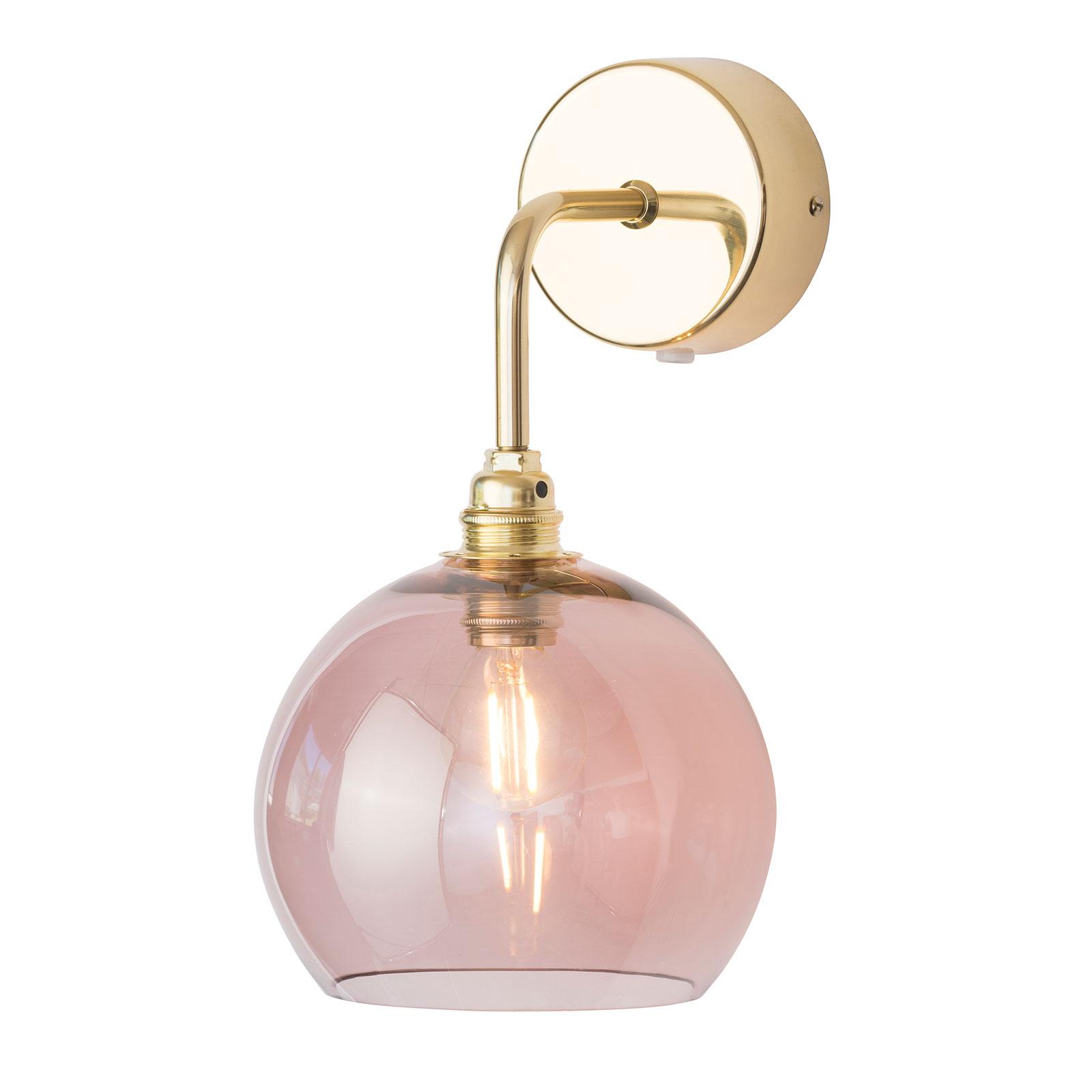 EBB & FLOW Rowan Wandlampe gold Schirm rosé-braun