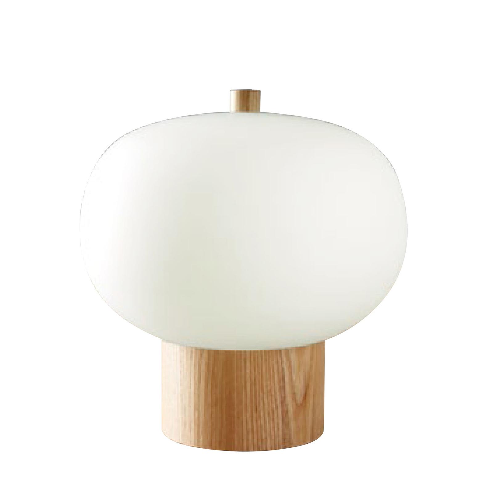 Grok Ilargi LED-Tischlampe hell Ø 24cm Touchdimmer