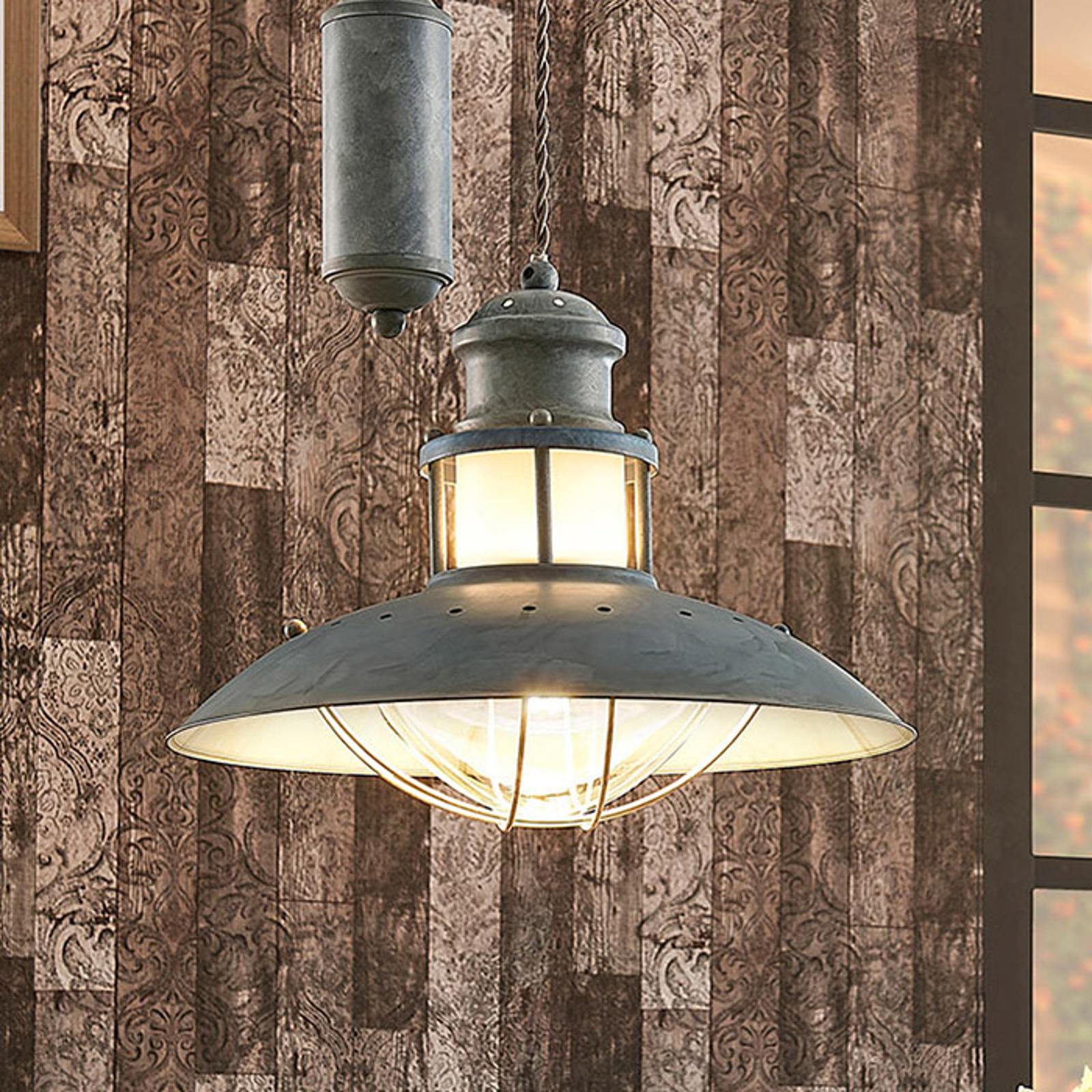 Louisanne - betonggrå pendellampe med jojopendel