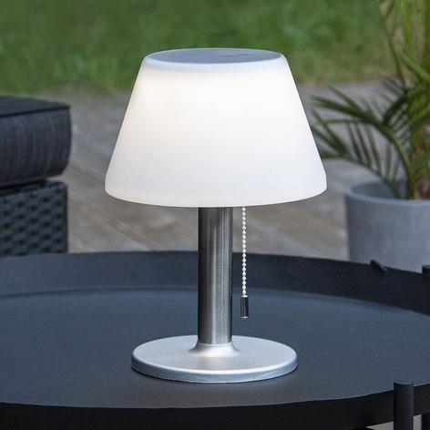 LED-solcellsbordslampa Solia med dragströmbrytare