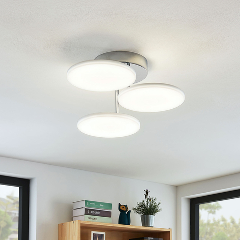 Lámpara LED de techo Sherko, atenuable, 3 luces