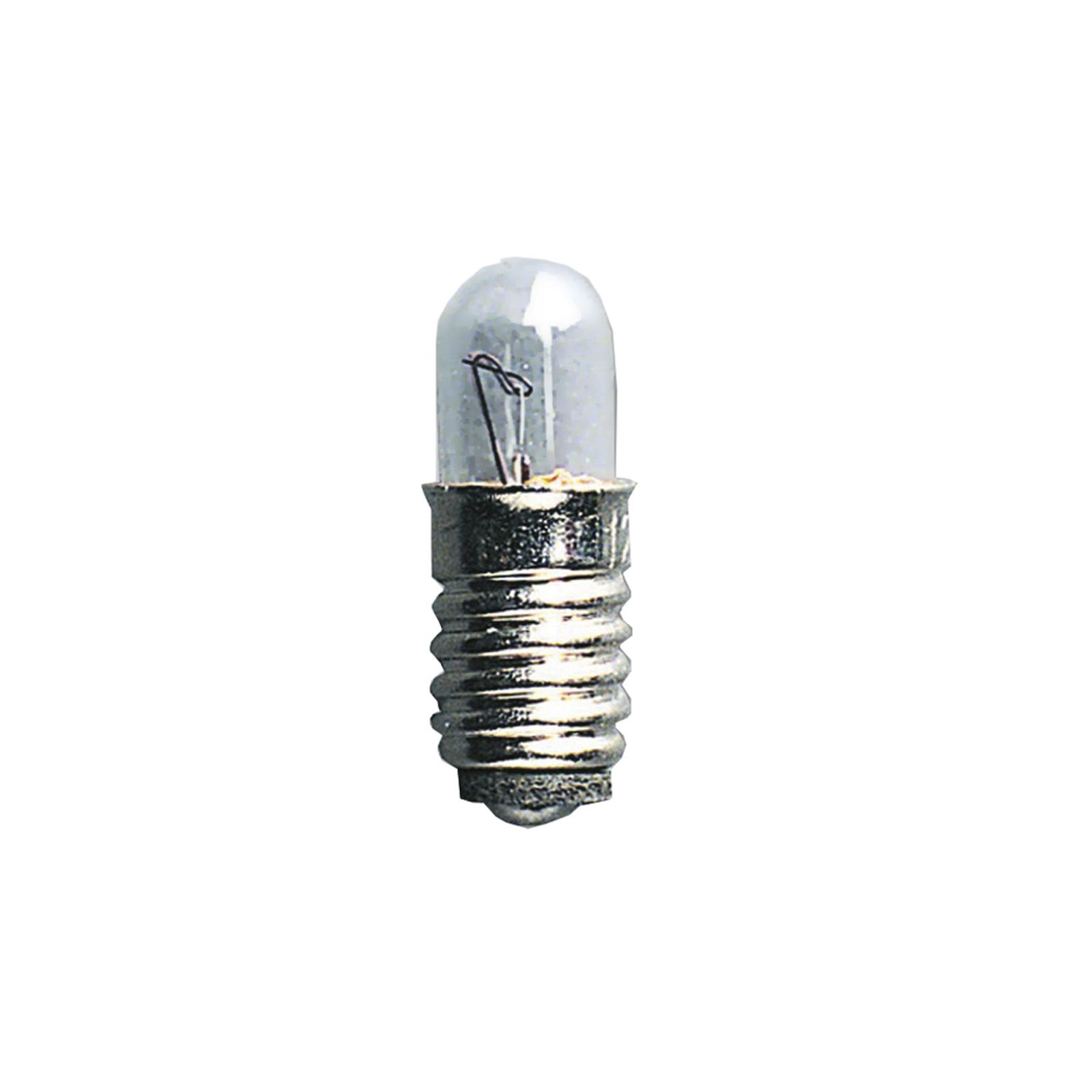 Náhradní žárovky E5 0,6W 12V NV, 5ks, čiré