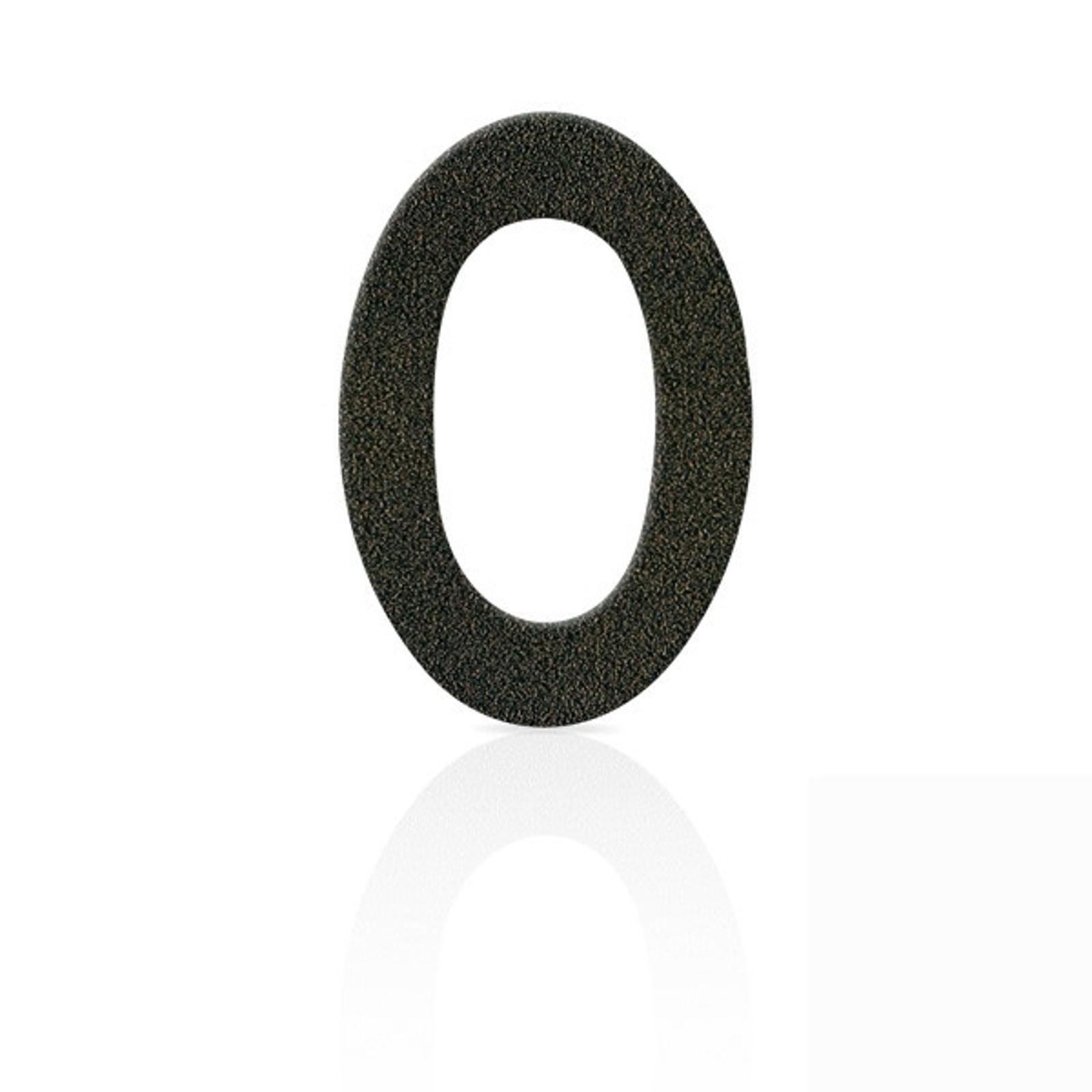 Gatenummerskilt rustfritt stål tallet 0 mokkabrunt