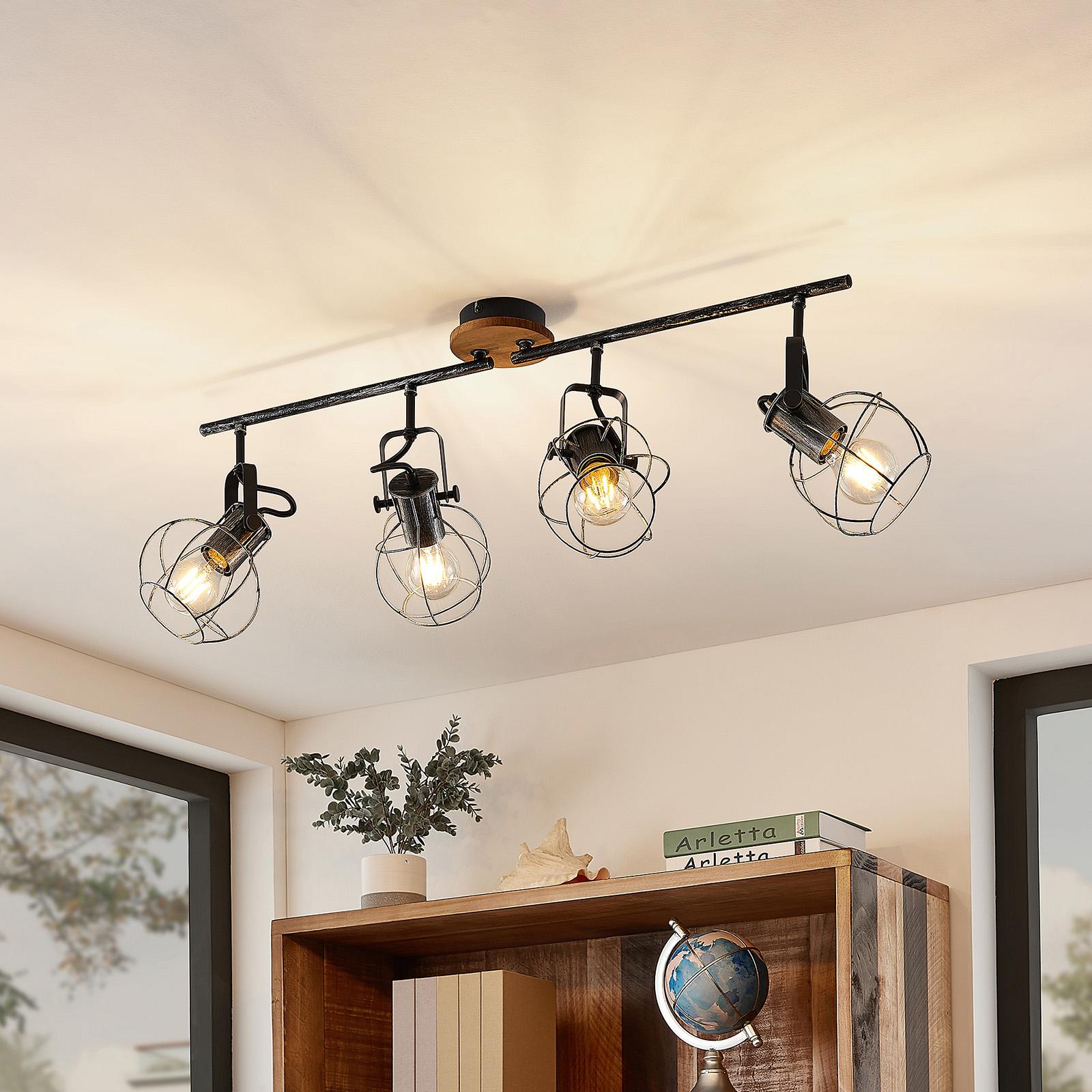 Lindby Salima takspotlight, burar, 4 lampor