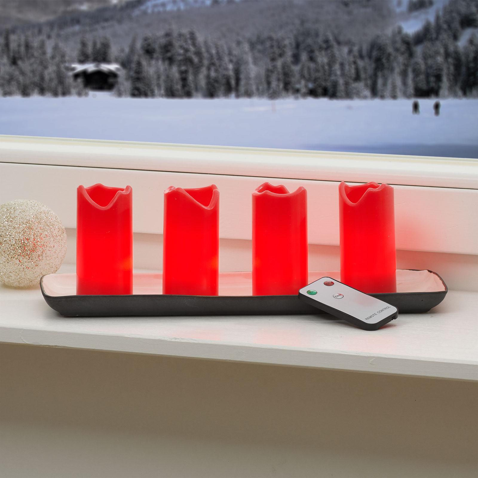 4-er Set - Candle LED-Kerzen m. Fernbedienung