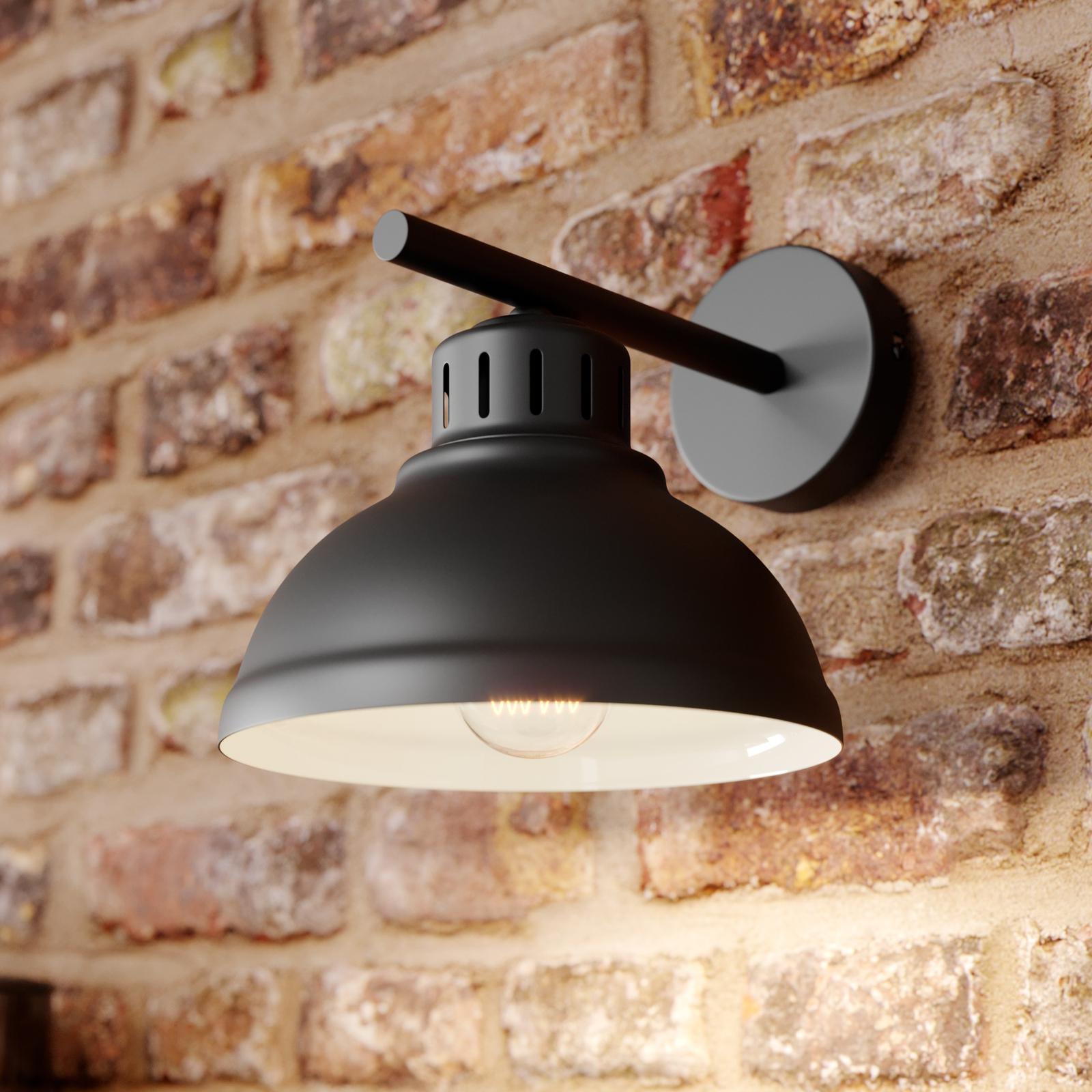 Applique LED Sven, à 1 lampe, noire