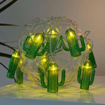 Cadena de luces LED Cactus, con pilas