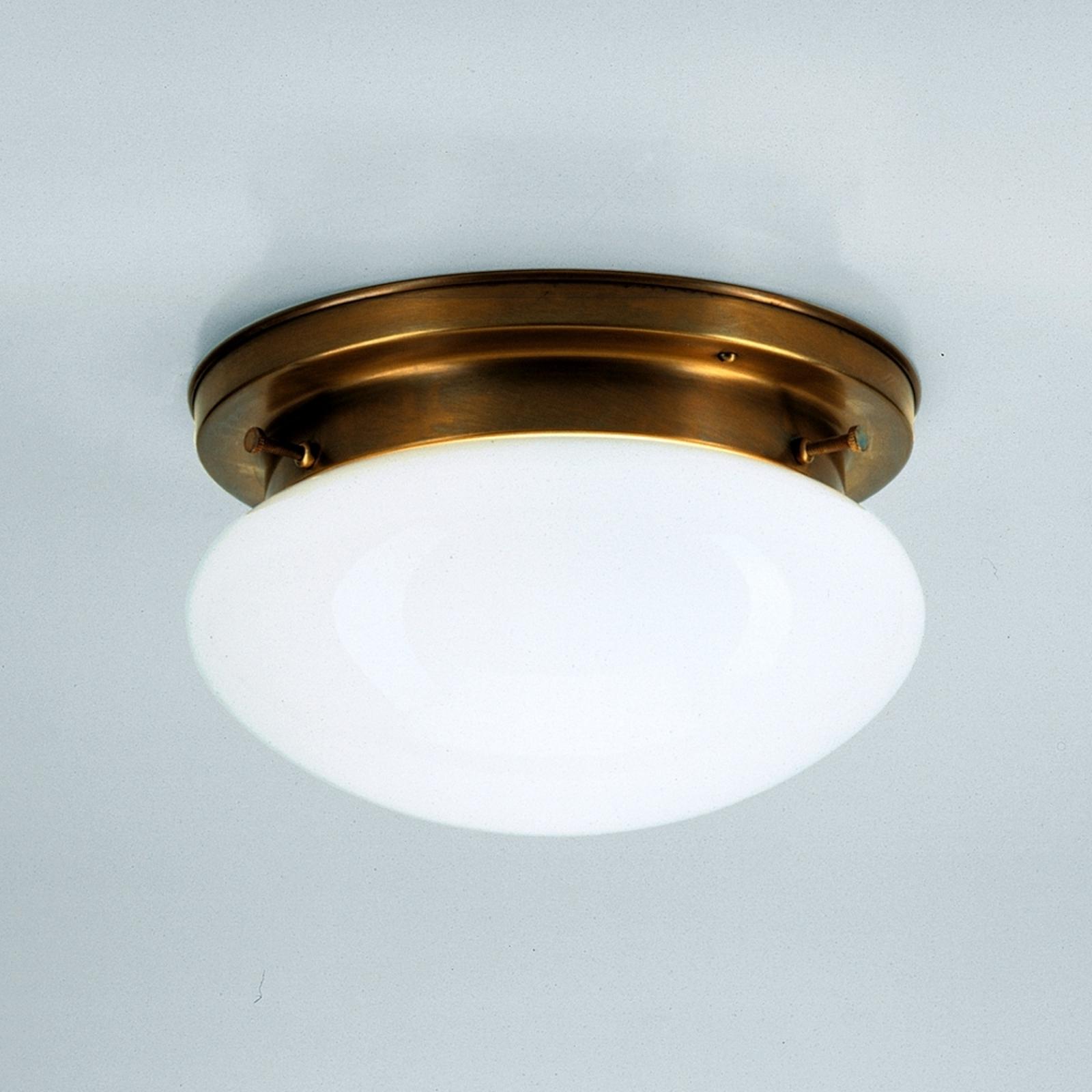 Lampada da soffitto opalina HARRY in ottone