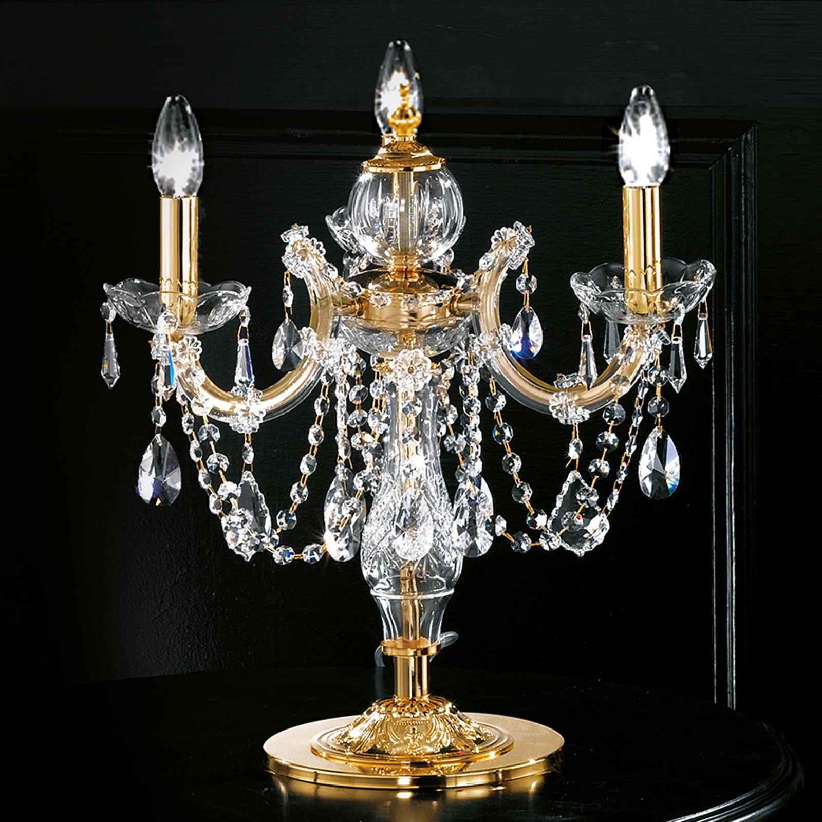 Bordlampe Maria Teresa med tre lyskilder