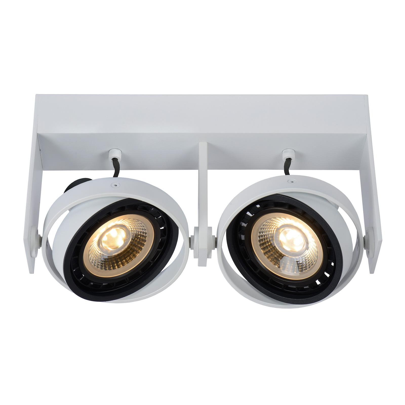 Griffon LED-loftspothvid, med 2 lyskilder