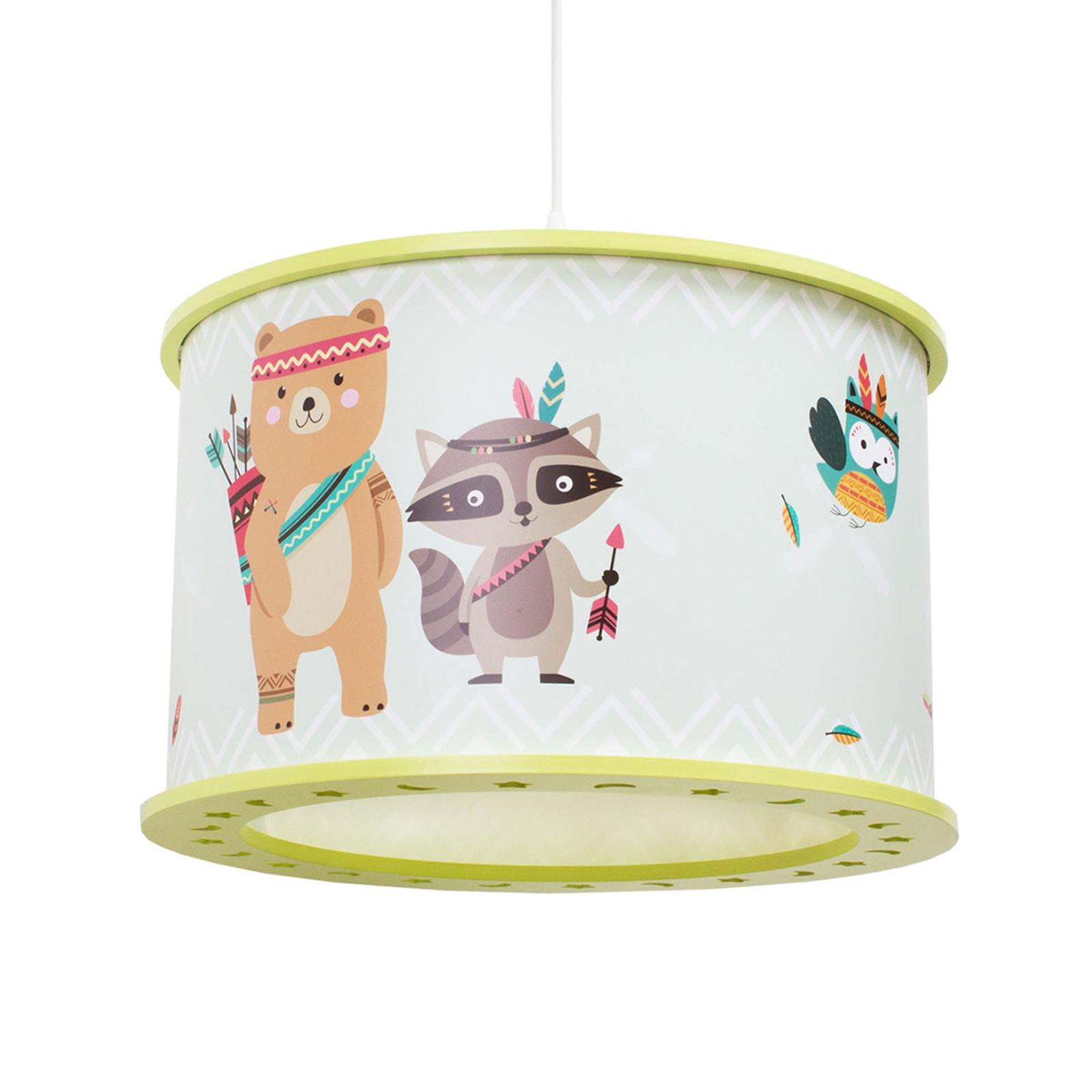 Lampa wisząca Little Indians 25/40 motywy zwierząt