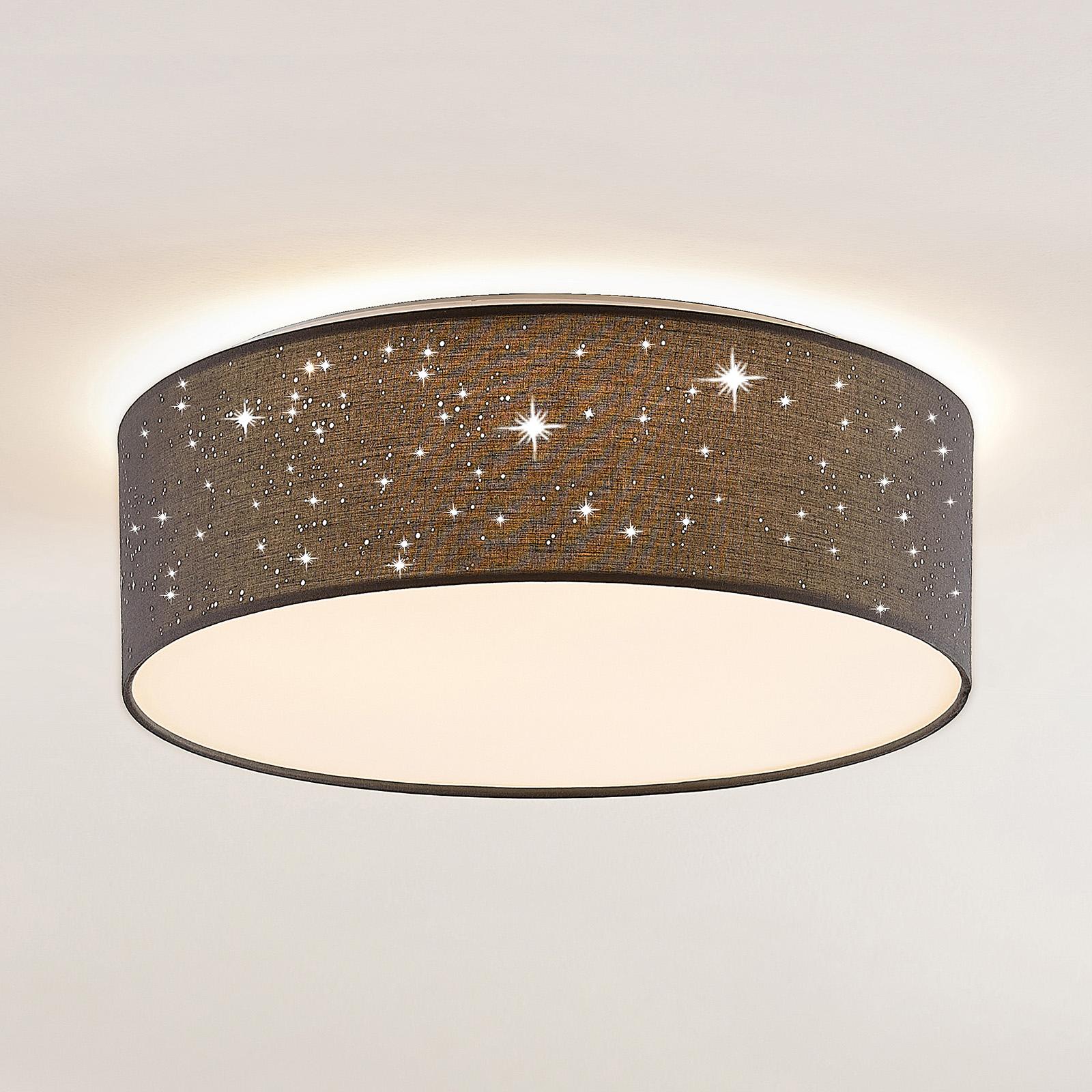 Lindby Ellamina LED-Deckenleuchte 40 cm dunkelgrau