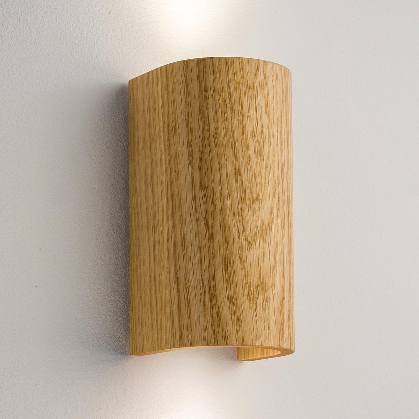 Tube væglampe, eg, 17,5 cm