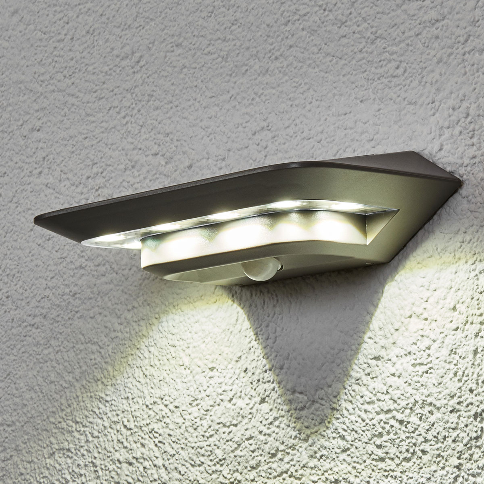 Solar-wandlamp GHOST met bewegingssensor