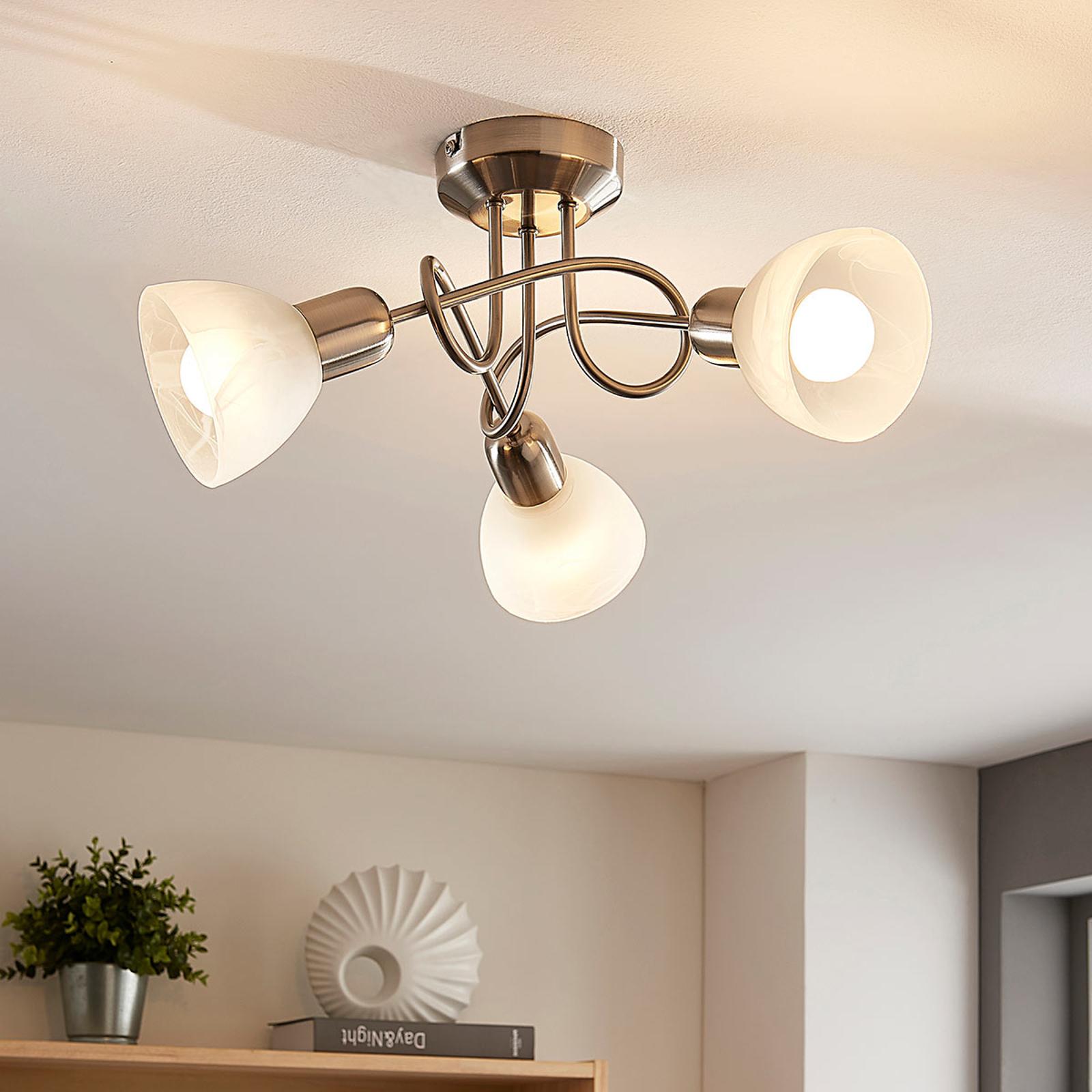 Lindby Paulina LED ceiling lamp, 3-bulb, round_9621642_1