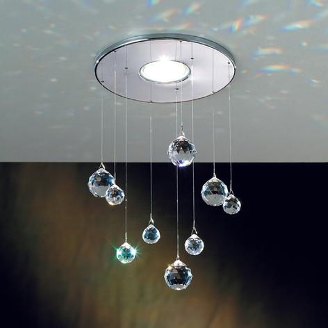 Innfellingslampe Feng Shui krom