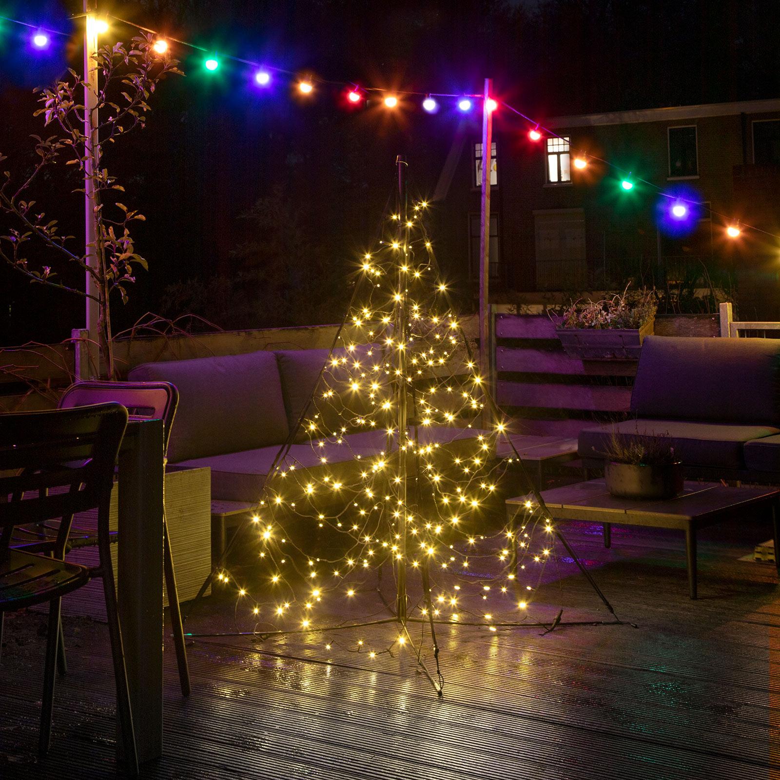 Fairybell Weihnachtsbaum mit Mast, 240 LEDs 150cm