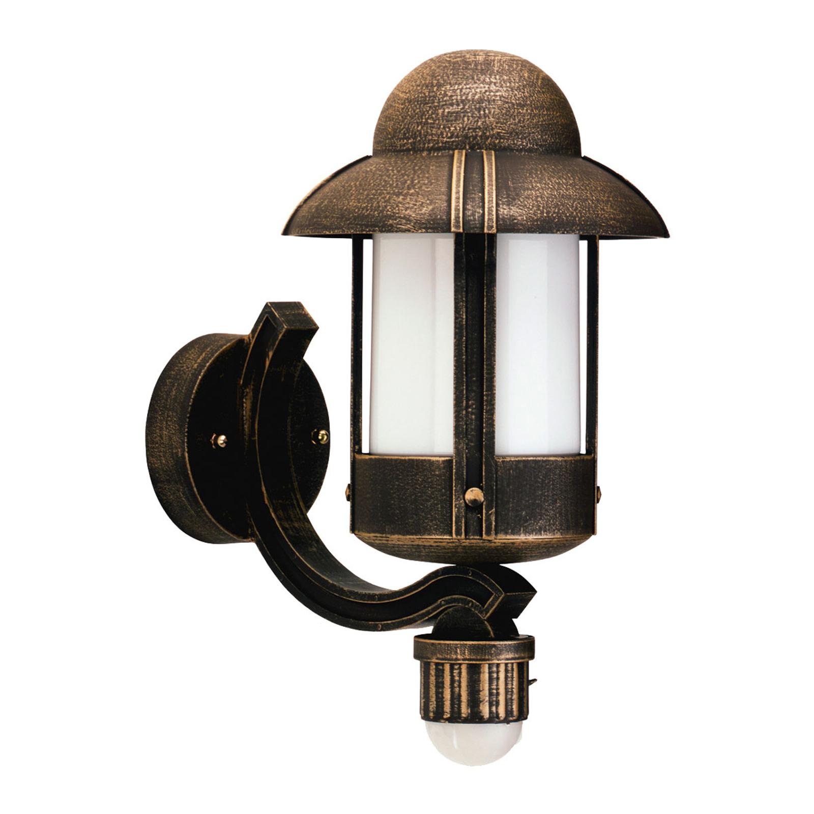 Zewnętrzna lampa ścienna Dorothee brązowa