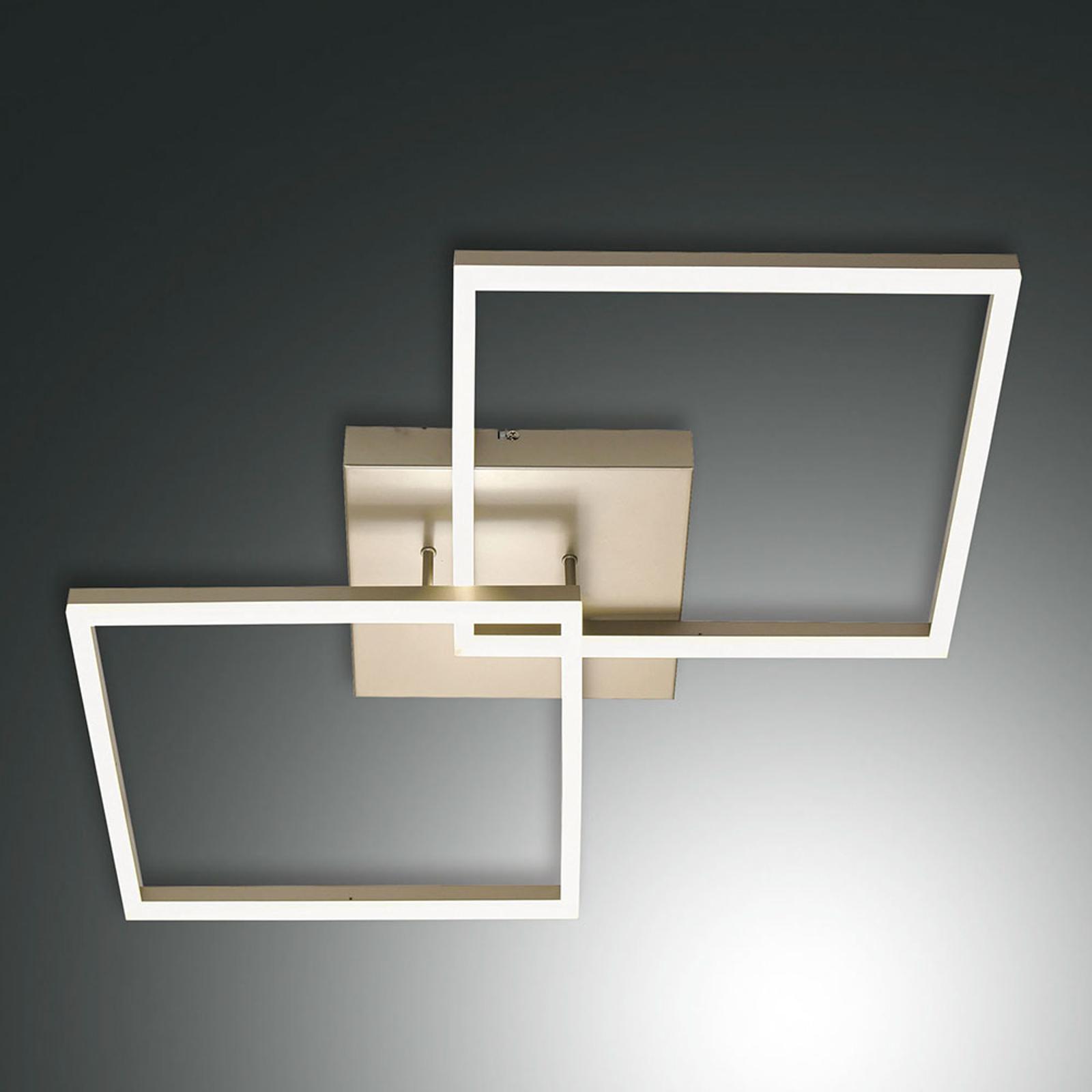 Złota lampa sufitowa LED Bard